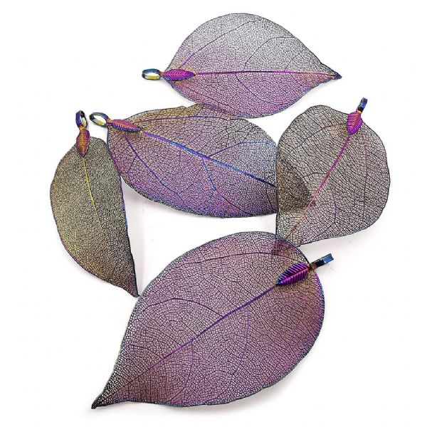 Iridescent Metal Plated Classic Leaf
